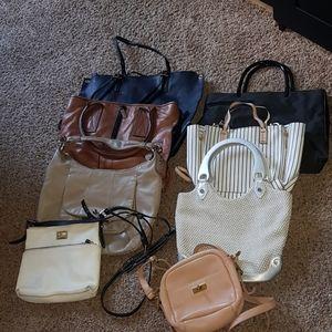 Bundle of 8 handbags